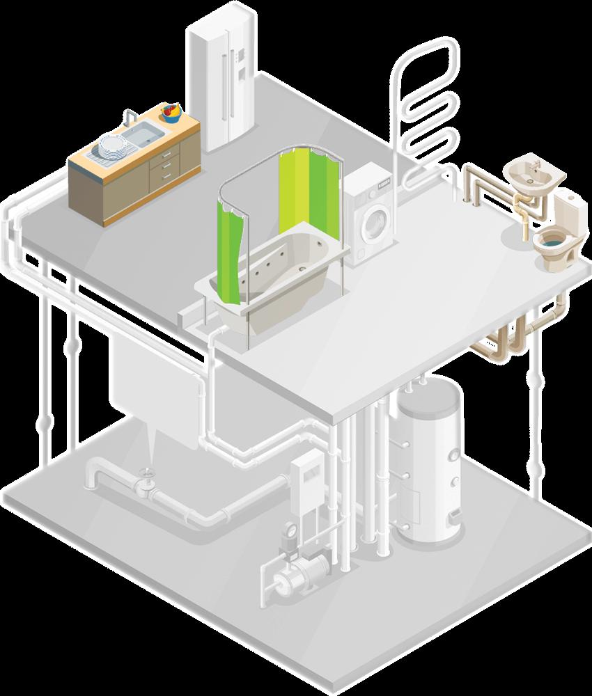 Mrs Debouchage schéma dessin de canalisations domicile client